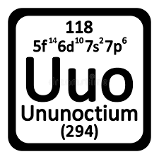 Periodic Table Element Ununoctium Icon. Stock Illustration - Image ...