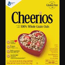 general mills cheerios nutrition label cheerios gluten free cereal 10 pack 10 10 oz walmart