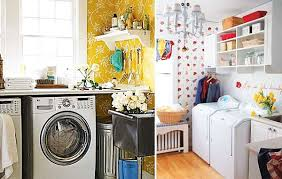 View in gallery Colorful wallpaper designs for a laundry room