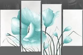 teal blue canvas wall art