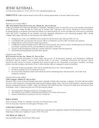 Security Resume Sample Security Resume Objective Examples Entry