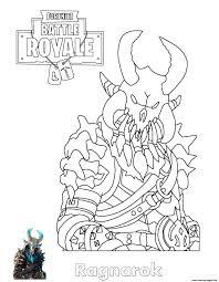 Ragnarok Fortnite Coloring Pages Printable
