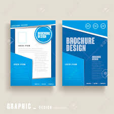 Modern Brochure Design Modern Brochure Template Design In Blue And White Royalty Free 20