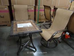 Patio patio furniture at costco light brown rectangle modern