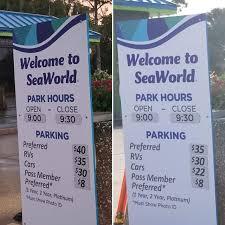 did seaworld orlando s parking fee just