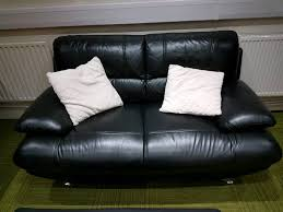 Living Room Furniture Glasgow Stunning Black Leather 2 Seater Sofa Quality Suites In