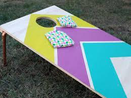 Cornhole Board Design Ideas How To Make Designer Cornhole Boards Hgtvs Decorating
