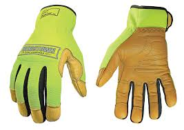 Youngstown Gloves Size Chart Youngstown Safety Lime Hybrid Glove Lined With Dupont Kevlar