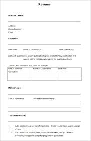Blank Resume Pdf Best Of Cv Format Word Free Professional Cv Format