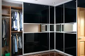 fitted wardrobe doors in black glasirror black glass mirror image 2 of 2 glass