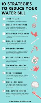 12 Savvy Ways To Lower Your Water Bill Savings Chart
