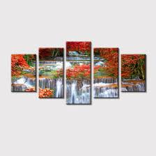 china stretched waterfall canvas wall
