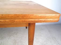 mid century modern draw leaf oak dining table by hans wegner for andreas tuck
