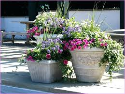 how to plant in a tall planter outdoor flower pots incredible tall and large for outdoors garages 7