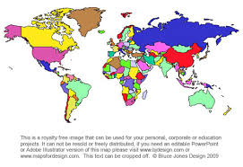 Free World Map Projection Mercator And Robinson Printable