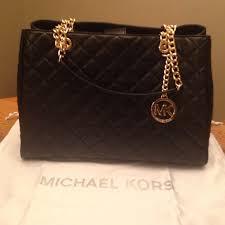 61% off Michael Kors Handbags - Michael Kors Large Black Quilted ... & Michael Kors Large Black Quilted Leather Bag Adamdwight.com