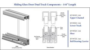 sliding glass door tracks and rollers