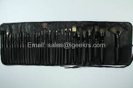 mac make up brushes 24pcs cosmetic makeup brush set with leather pouch bag 2