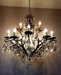french c1910 antique birdcage 24 arm gilt brass crystal chandelier
