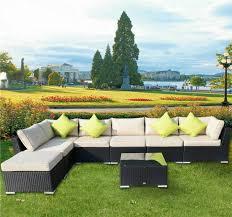 rattan patio corner sofa set