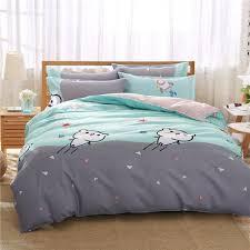 new aloe vera cotton of 4 pieces of bedding sets comfortable flat sheet light green 4 6