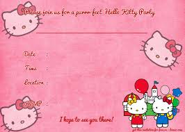 Printable Hello Kitty Invitations Personalized Printable Hello Kitty Birthday Invitation Template Hello