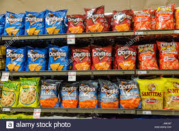 junk food snacks. Perfect Food A Display Of Shelveswith Bags Junk Food Snacks For Sale In Grocery  Store  Throughout Junk Food Snacks