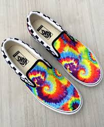 Design Your Own Vans Get Groovy With Our New Rainbow Tie Dye Pattern In The