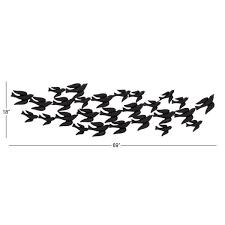 flock of birds metal wall sculpture
