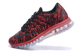 nike running shoes for men black and red. nike air max 2016 sneakers 3d print black red 806771 318 trainers men\u0027s running shoes for men and