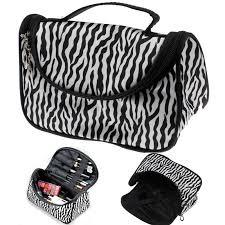 2016 professional cosmetic case bag large capacity portable women makeup cosmetic bags zebra print storage travel