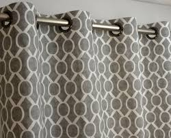 Geometric Patterned Curtains Storm Gray White Sydney Geometric Honeycomb Curtains Grommet