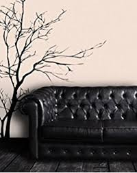 >amazon trurendi stunning tree branch removable wall art sticker  stickerbrand nature vinyl wall art bare tree branch wall decal sticker black 60