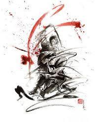 Samurai Sword Black White <b>Red</b> Strokes Bushido <b>Katana</b> Martial ...