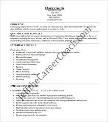 Microsoft Excel Resume Template Construction Resume Template 9 Free Word Excel Pdf Format