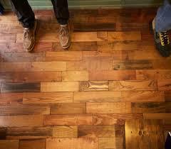 wooden pallet flooring