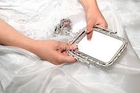 woman holding hand mirror. Bride Hands Holding Vintage Stile Mirror By Radu Borzea - Products \u0026 Objects Industrial ( Woman Hand T
