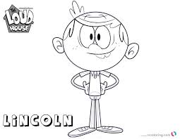 Loud House Coloring Pages How To Draw Lincoln Free Printable