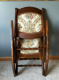 antique folding rocking sewing chair w victorian tapestry for antiques com classifieds