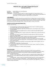 Medical Billing Resume Examples Medical Billing Job Description For