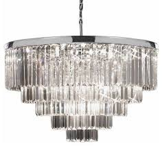 odeon crystal glass fringe 5 tier chrome chandelier contemporary chandeliers