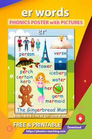 Er Words Free Printable Phonics Poster This Er Word