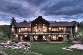 Craftman Style Home Plan Impressive Mountain Craftsman House Plans  Breathtaking Exterior View