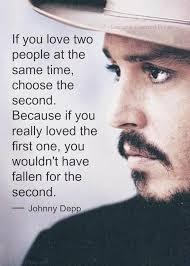 Johnny Depp Love Quotes Beauteous Johnny Depp Quotes Second Love Dating Quotes From Johnny Depp