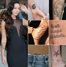 какие татуировки делают звезды меган фокс фото 4