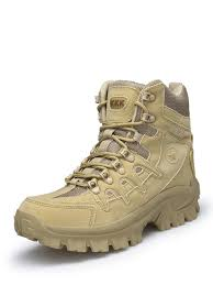 Buy <b>Men's High Top Boots Thick</b> Sole Anti Skid Lace Up Outdoor ...