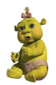 Check out this transparent Shrek Baby Ogre Girl PNG image
