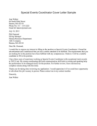 Awesome Collection Of Event Planner Cover Letter Entry Level Job And