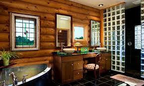 Log Cabin Bathroom Decor Bathroom Mesmerizing Log Home Bathrooms Bathroom Decor Ideas