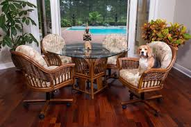 Rattan And Wicker Dining Room Furniture Sets Dining Tables And - Casters for dining room chairs